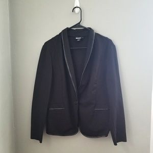 DKNY I Black one button blazer jacket size 14